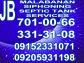 jb malabanan siphoning pozo negro plumbing services 701-00-66/09152331071